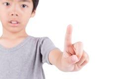 Tacto de la mano la pantalla Fotografía de archivo libre de regalías