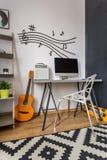 Tacto de la oficina de la música en casa Imagen de archivo