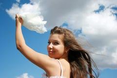Tacto de las nubes fotografía de archivo libre de regalías