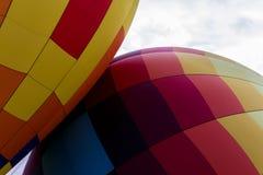 Tacto de los globos de aire caliente Imagen de archivo libre de regalías