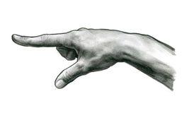 Tacto del finger Foto de archivo libre de regalías