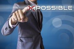 Tacto del hombre de negocios posible del negocio conceptual Imagen de archivo