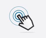 Tacto del indicador de la mano Imágenes de archivo libres de regalías