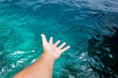 Tacto del océano Imagen de archivo libre de regalías