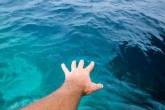 Tacto del océano Fotos de archivo libres de regalías