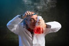 Tacto final en química fotos de archivo libres de regalías