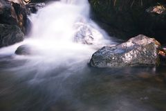 tad kaeng nyui瀑布II的软性 库存照片