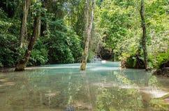 Tad Kuang Si waterfalls at Luang prabang Laos. Royalty Free Stock Photo