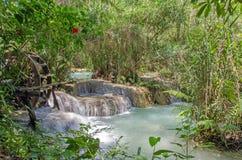 Tad Kuang Si waterfalls at Luang prabang Laos. Stock Images