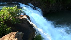 Tad Lo siklawa w Bolaven plateau, Laos zdjęcie wideo