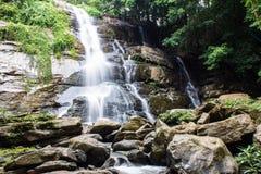 Tad Mork Water Fall in Maerim, Chiangmai Thailand Stock Afbeelding