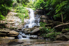 Tad Mork Water Fall in Maerim , Chiangmai Thailand Royalty Free Stock Image