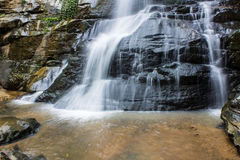 Tad Mork Water Fall in Maerim , Chiangmai Thailand. Tad Mork Water Fall in Maerim , Chiangmai in Thailand stock photography