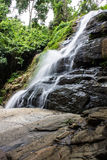 Tad Mork Water Fall in Maerim , Chiangmai Thailand Royalty Free Stock Images