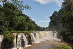 Tad-Pa Suam waterfall. Stock Photo