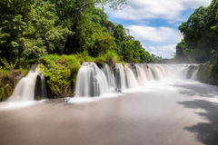 Tad Pha Souam de waterval in Laos Stock Fotografie
