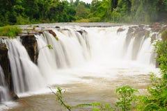 Tad Pha Souam waterfal, Paksa Laos sul. Imagens de Stock