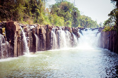 Tad Pha Souam the waterfall Stock Image