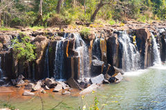 Tad Pha Souam the waterfall. Tad Pha Souam waterfall in Laos Royalty Free Stock Image