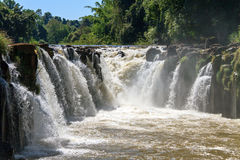 Tad Pha Souam waterfall in Pakse Stock Photo