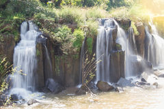 Tad Pha Souam waterfall in Pakse Royalty Free Stock Photos