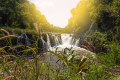 Tad Pha Souam waterfall in Pakse, Royalty Free Stock Photography