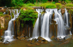 Tad Pha Suam waterfall, Laos stock photo