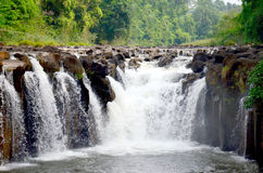 Tad Pha Suam waterfall in Pakse, Champasak, Laos Stock Image