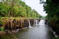 Tad Pha Suam waterfall in Pakse, Champasak, Laos Stock Images