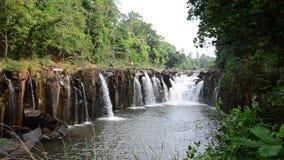 Tad Pha Suam waterfall in Pakse, Champasak, Laos stock video footage