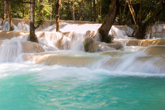 Tad Sae Waterfall, Luang Prabang Stock Fotografie