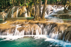 Tad Sae waterfall, Luang Prabang, Laos Stock Photography