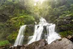 Tad Sua waterfall, A big waterfall in deep forest at Bolaven Plateau. Tad Sua waterfall, A big waterfall in deep forest at Bolaven highland , Ban Nung Lung Stock Images