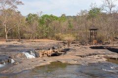 Tad Ton waterfall stock photo