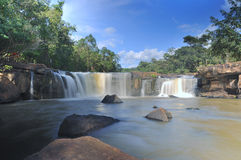 Tad Ton Waterfall en Thaïlande Photographie stock