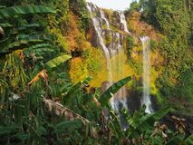 Tad Yaung Waterfall in Pakxong , Southlaos Stock Photography