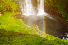 Tad Yeung waterfall in tropical country. Royalty Free Stock Photography