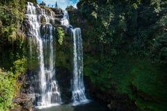 Tad Yuang Waterfall, Laos du sud, Asie du Sud-Est Images libres de droits