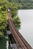 Tadami railway line Royalty Free Stock Photography