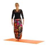 Tadasana, una posición en yoga, también se llama Mountain Pose Fotos de archivo libres de regalías