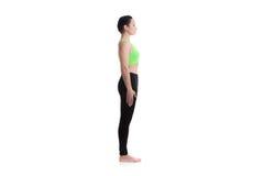 Tadasana yoga pose Stock Photography