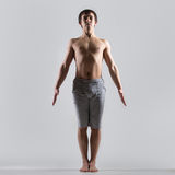 Tadasana-Yogahaltung Stockfotos