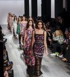 Tadashi Shoji SS 2018. New York, NY, USA - September 7, 2017: Models walk runway for the Tadashi Shoji Spring/Summer 2018 runway show during New York Fashion Royalty Free Stock Photo