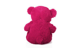 Taddy bear turned away. On a white background royalty free stock photography