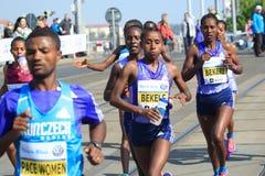 Tadelech Bekele - Prague marathon 2015 Royalty Free Stock Photography