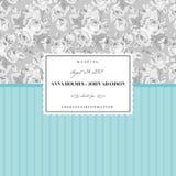 Tadellose Karte für eine Hochzeit Stockfoto
