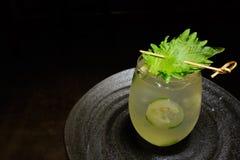 Tadelloses Cocktail der Gurke Lizenzfreie Stockfotografie