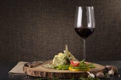 Tadelloses Steak des Lammkarrees Stockfotografie