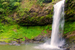 Tadetu瀑布, Paksa占巴塞省南老挝 免版税库存图片