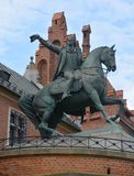 Tadeusz Kosciuszko Monument equestrian bronze statue Royalty Free Stock Photo